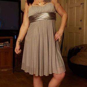 Xtraordinary Semiformal silver dress